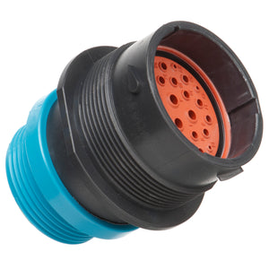 HDP24-24-29PE-L015 - HDP20 Series - 29 Pin Receptacle - 24 Shell, E Seal, Threaded Adapter, Flange