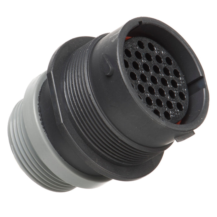 HDP24-24-31ST-L015 - HDP20 Series - 31 Socket Receptacle - 24 Shell, T Seal, Reverse, Threaded Adapter, Flange
