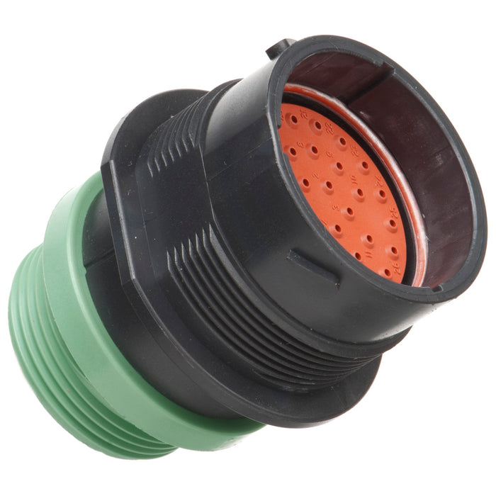 HDP24-24-33PN-L015 - HDP20 Series - 33 Pin Receptacle - 24 Shell, N Seal, Threaded Adapter, Flange