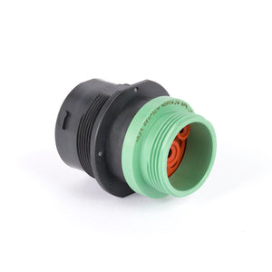 HDP24-24-9SN-L015 - HDP20 Series - 9 Socket Receptacle - 24 Shell, N Seal, Reverse, Threaded Adapter, Flange