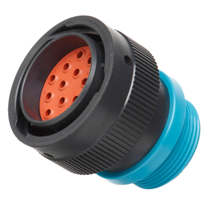 HDP26-24-16PE-L015 - HDP20 Series - 16 Pin Plug - 24 Shell, E Seal, Reverse, Threaded Adapter