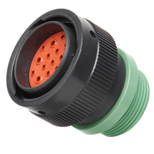 HDP26-24-19PN-L015 - HDP20 Series - 19 Pin Plug - 24 Shell, N Seal, Reverse, Threaded Adapter