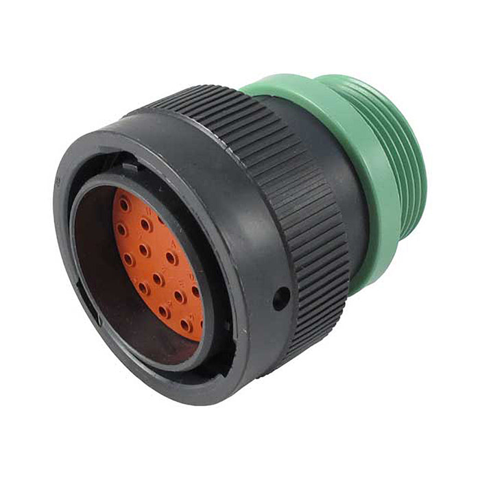 HDP26-24-23PN-L015 - HDP20 Series - 23 Pin Plug - 24 Shell, N Seal, Reverse, Threaded Adapter