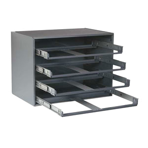 RBR0.00GY -  Heavy Duty Roller Bearing Rack - 4 drawer - Gray