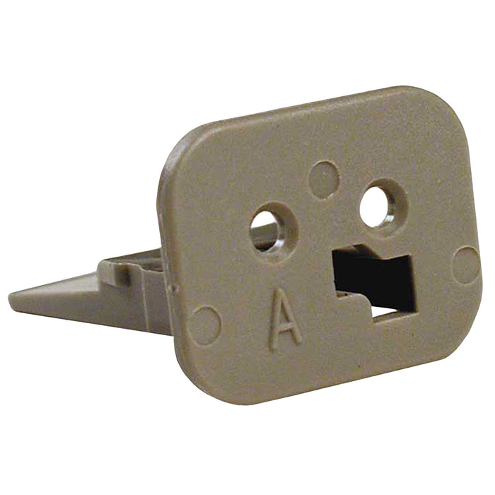 W2SA - DT Series - Wedgelock for 2 Socket Plug - A Key, Gray