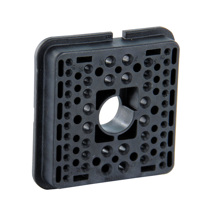 WB-48SB - DRB Series - 48 Socket Plug Wedgelock - B Key, Black