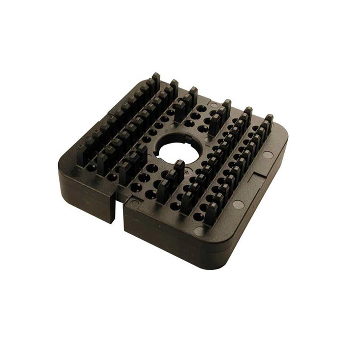 WB-60PB - DRB Series - 60 Pin Receptacle Wedgelock - B Key, Black