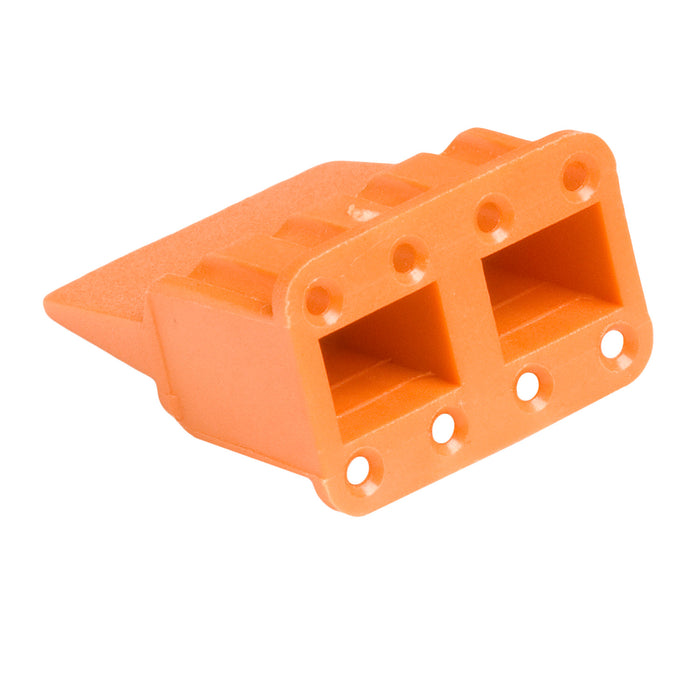 WM-8S - DTM Series - 8 Socket Plug Wedgelock - Orange