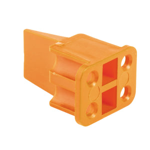 WP-4S - DTP Series - 4 Socket Plug Wedgelock - Orange