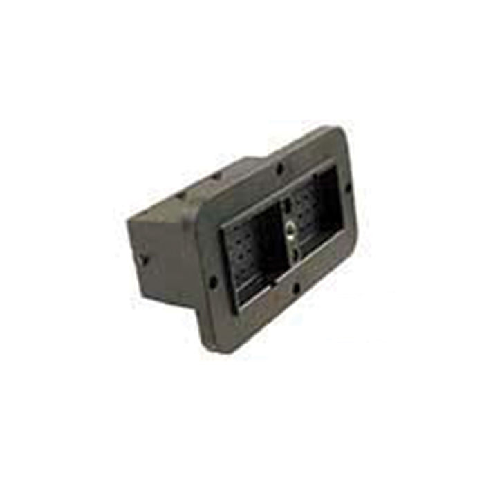 DRC12-40PB - DRC Series - 40 Pin Receptacle -  B Key, Flange, Black