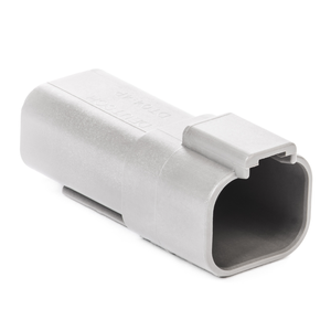 DT04-4P - DT Series - 4 Pin Receptacle - Gray