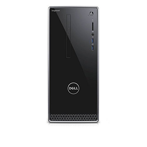 Dell Inspiron i3668 Desktop - 7th Generation Intel Core i7-7700 Processor up to 4.2 GHz, 16GB DDR4 Memory, 256GB SSD + 1TB SATA Hard Drive, Intel HD Graphics, DVD Burner, Windows 10