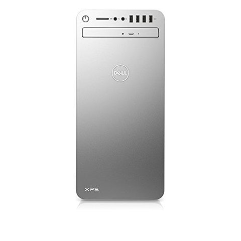 Dell XPS 8920 Special Edition Silver Desktop - Intel Core i7-7700 7th Gen Quad-Core up to 4.2 GHz, 16GB DDR4 Memory, 256GB SSD + 2TB SATA Hard Drive, 8GB Nvidia GTX 1070, DVD Burner, Windows 10