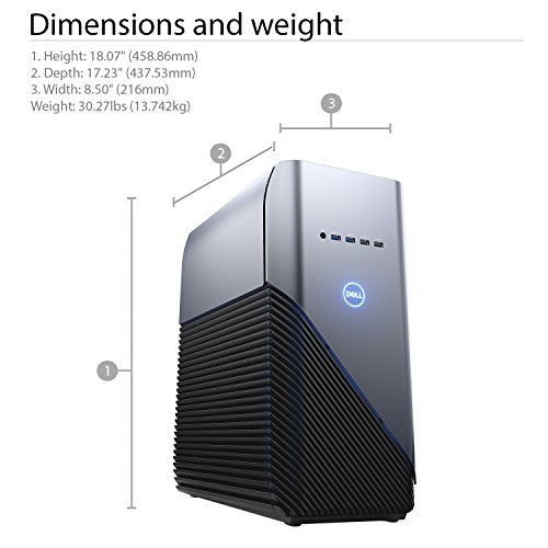 Dell Inspiron 5680 Gaming Desktop - 8th Gen  Intel Core i7-8700 6-Core up  to 4 60 GHz, 64GB DDR4 Memory, 512GB SSD, 3GB Nvidia GeForce GTX 1060,