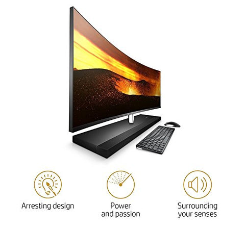 "Latest HP ENVY 34 CURVED Desktop 4TB SSD 32GB RAM (Intel Core i7-7700T processor TURBO to 3.80GHz, 32 GB RAM, 4 TB SSD, 34"" WQHD LED(3440x1440),Win 10) PC Computer All-in-One"