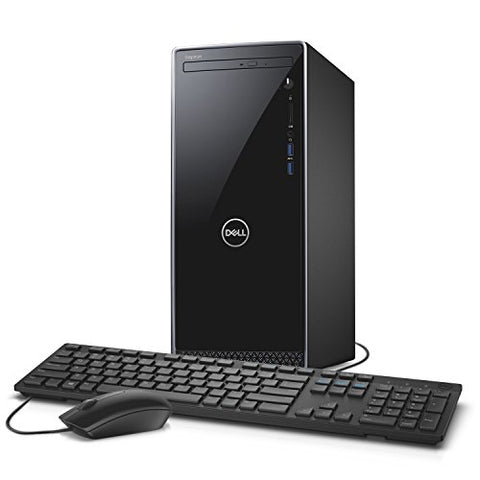 Dell Inspiron i3670 Desktop - 8th Gen Intel Core i7-8700 6-Core up to 4.60 GHz, 16GB DDR4 Memory, 1TB SSD + 2TB SATA Hard Drive, 2GB Nvidia GeForce GT 1030, DVD Burner, Windows 10 Pro