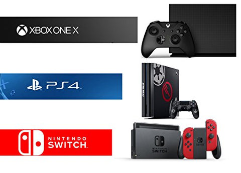 Xbox One X 1TB Limited Edition Console - Project Scorpio Edition + PlayStation 4 Pro 1TB Limited Edition Console + Nintendo Switch - Super Mario Odyssey Edition Bundle ( 3 - Items )