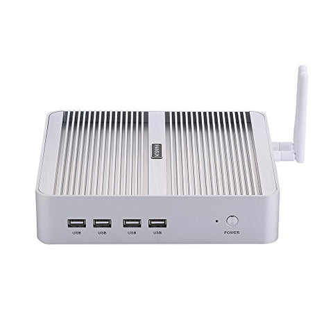 4K Fanless Mini PC,with Windows 10 Pro/Linux Ubuntu,Intel Quad Core I5 8250U,(Silver),[HUNSN BM07],[64Bit/Dual Band WiFi/1VGA/1HDMI/4USB3.0/4USB2.0/1LAN/2280 M.2/Dual DDR4](32G RAM/512G SSD/1TB HDD)