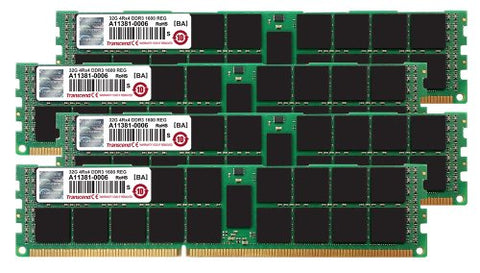 Transcend 128GB (32GB x 4 Kit) JetMemory DDR3-1600 ECC Registered DIMM 4Rx4 For Mac Pro Late 2013 (TS128GJMA534P)