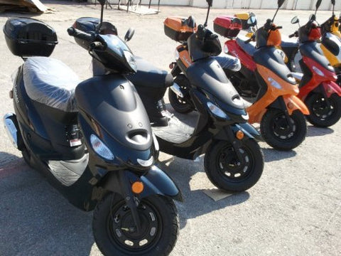 SMART DEALSNOW brings Brand New TaoTao ATM-50 /49cc Gas Automatic Scooter Moped w/ 10 Inch Steel Rims - ( Choose Your Color )
