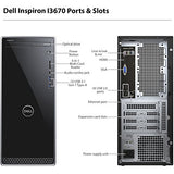 Dell Inspiron i3670 Desktop - 8th Gen Intel Core i7-8700 6-Core up to 4.60 GHz, 16GB DDR4 Memory, 256GB SSD + 1TB SATA Hard Drive, 2GB Nvidia GeForce GT 1030, DVD Burner, Windows 10 Pro