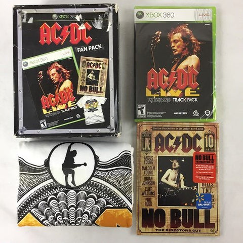 "AC/DC Fan Pack: Includes Xbox 360 Edition of ""AC/DC Live: Rock Band Track Pack,"" DVD of ""No Bull: The Director's Cut,"" and AC/DC Black Ice Logo T-Shirt"