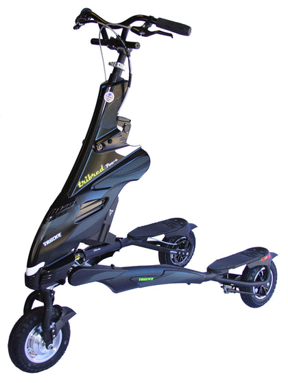 Trikke 48V Deluxe Electric Scooter, Black