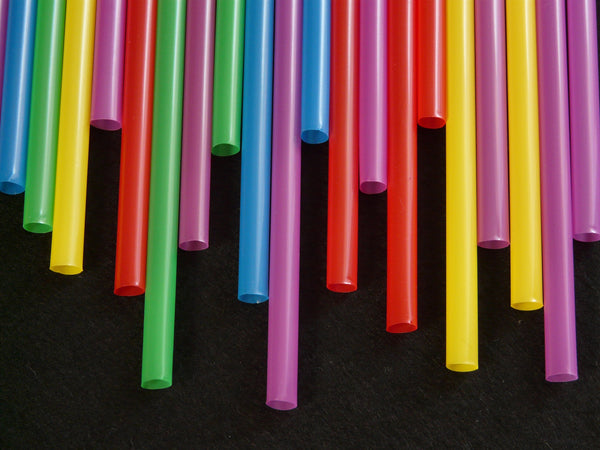 colorful bamboo straws