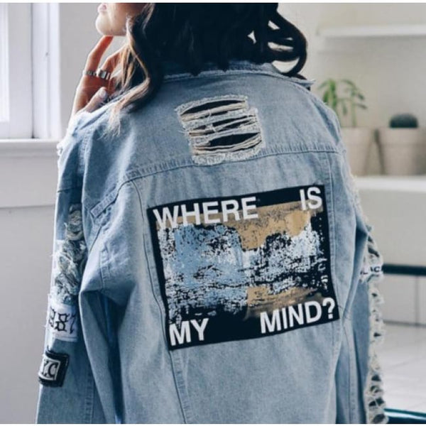 Where Is My Mind? Denim Jacket - Plug Babe