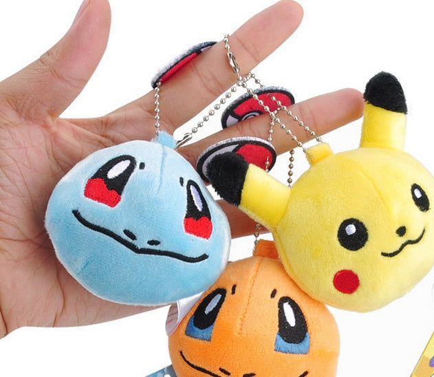 Cute Stuffed Pokemon Plush Keychain Toys