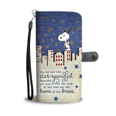 Snoopy home of the brave walletcase