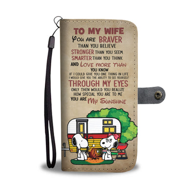 To My Wife Snoopy Wallet Case