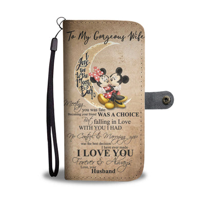 To My Gorgeous Wife Wallet Case