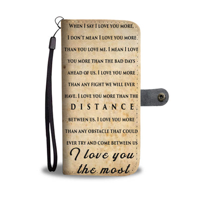 I love you the most walletcase
