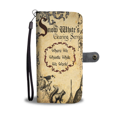 Snow White's Cleaning Service Wallet Case