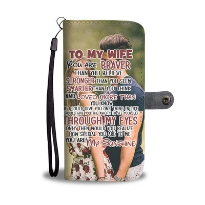 To My Wife Personalizable Wallet Case
