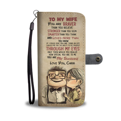 Personalized Up To My Wife Wallet Case
