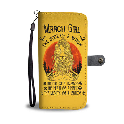 March Girl Wallet Case