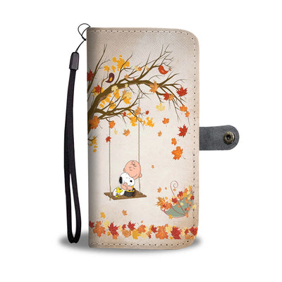 Dog Fall Wallet Case
