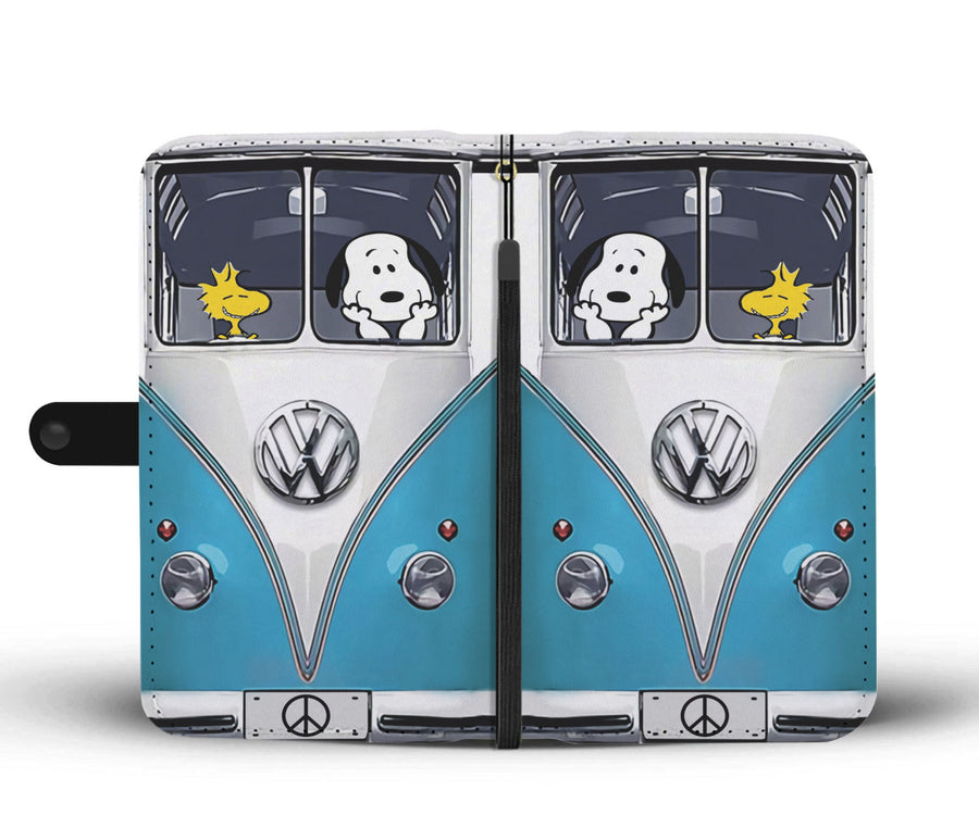 Snoopy Blue VW Wallet Case