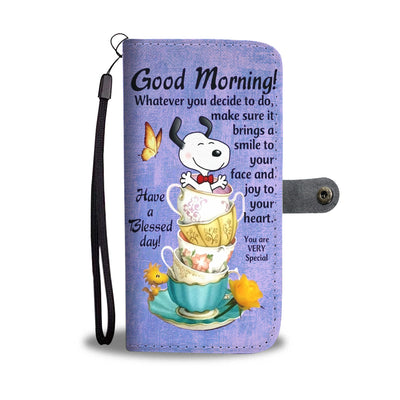 Snoopy Good Morning Wallet Case