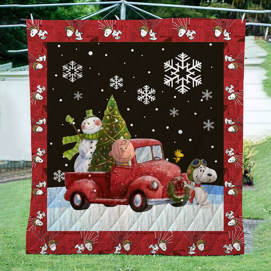 Snoopy Christmas 3D Quilt