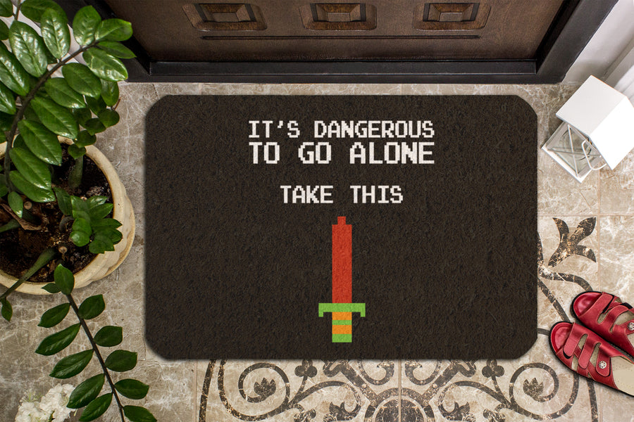 It's Dangerous To Go Alone Doormat