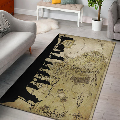 Middle Earth Map Rug