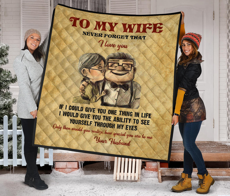 To My Wife Premium Quilt