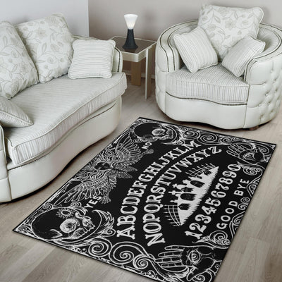 Ouija Board Black Rug