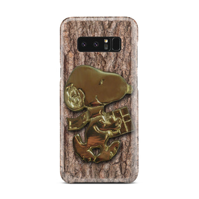 Dog wooden golden case