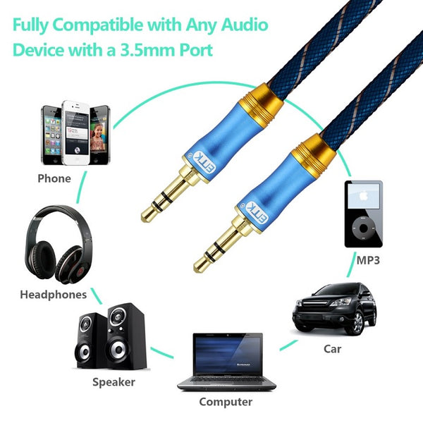EMK 3.5mm Jack Audio Cable Gold Plated 305LS aux cable