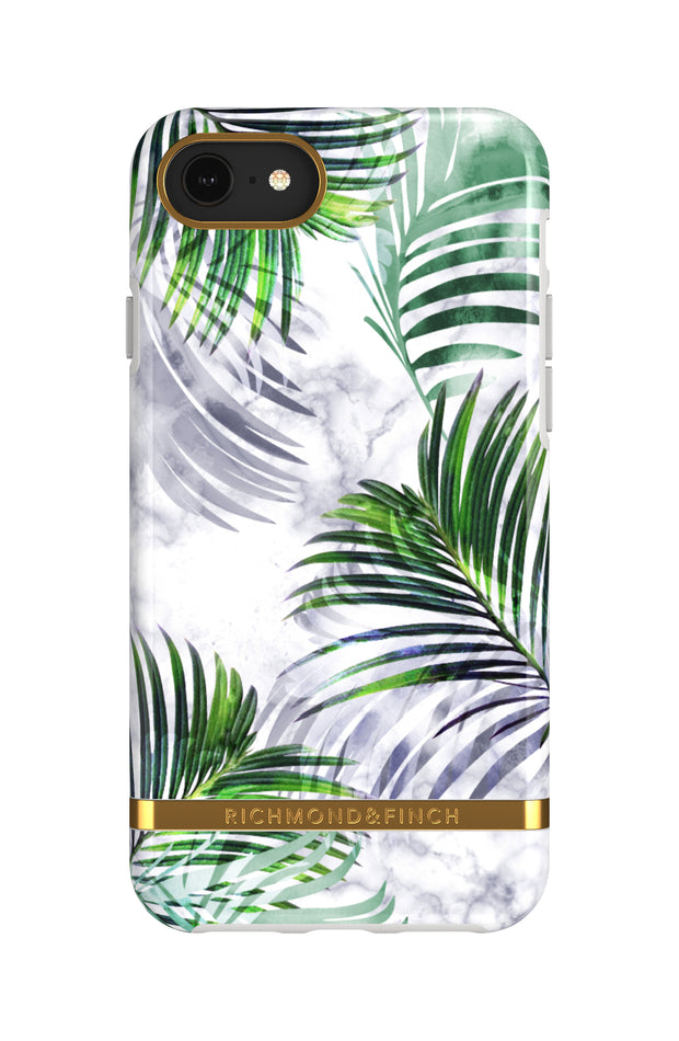 Funda para iPhone - White Marble Tropics