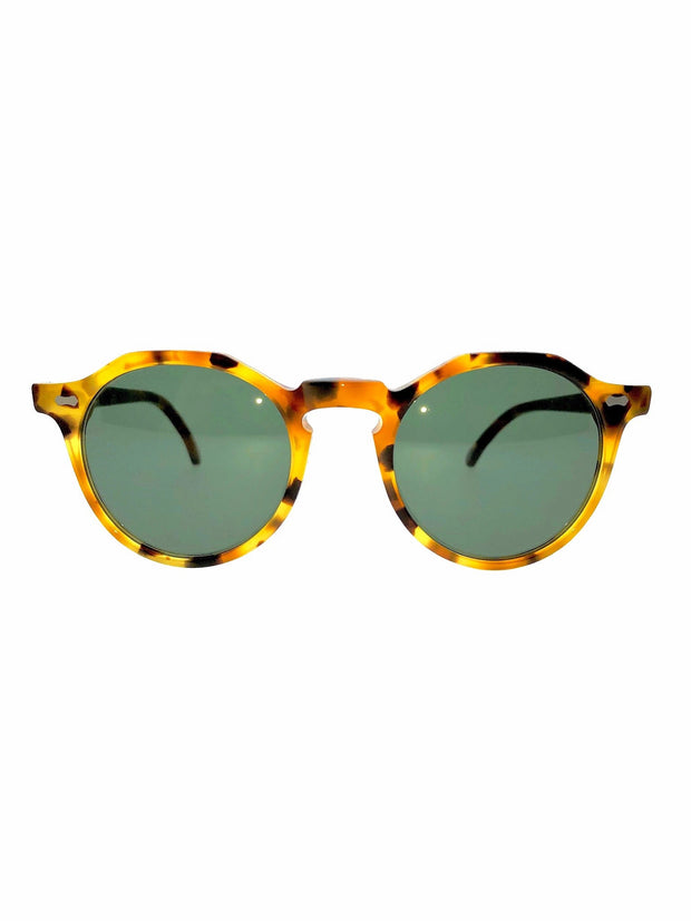 Lapel - Amber Tortoise / Bottle Green